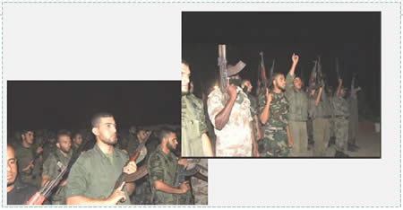 National security forces' operatives who participated in a night simulation of storming an IDF post (Website of the ministry of the interior and Facebook page of the national security forces in the Gaza Strip, September 7, 2015).