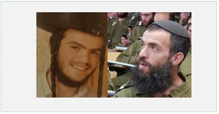 The two Israelis killed by Muhannad Halabi. Left: Corporal Aharon Bennett. Right: Rabbi Nehemiah Lavie (The Jewish Voice, October 3, 2015).