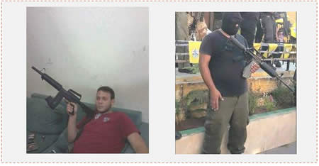The two Palestinians killed during the riot in Qalandia. Left: Laith Ashraf Manasra.  Right: Ahmed Abu al-Aish (Facebook page of QudsN, November 16, 2015).