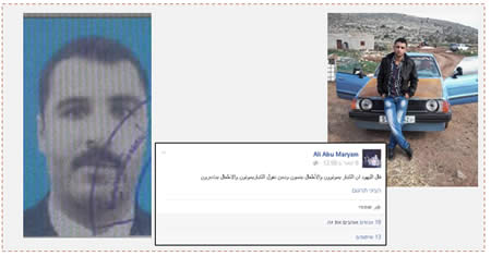Left: Sayyid Abu al-Wafa (Facebook page of Quds, January 10, 2016). Center: Facebook page of Ali Abu Maryam, October 7, 2015. Right: Ali Abu Maryam.