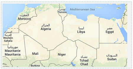 Libya's geographical location may make it a regional threat, as ISIS uses it as a power base from which to export terrorism and subversion to its neighbors (Google Maps)