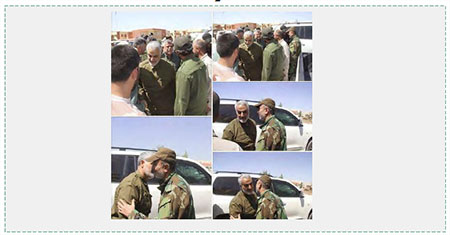 Qasem Soleimani in the Fallujah region after the campaign to liberate Fallujah began (Twitter, May 25, 2016).