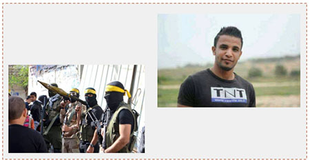 Left: The funeral held for Muhammad Abu Saada, with the participation of armed Al-Aqsa Martyrs Brigades terrorist operatives (Facebook page of Gaza al-A'an, November 19, 2016). Right: Muhammad Abu Saada (Facebook page of Gaza al-A'an, November 18, 2016).