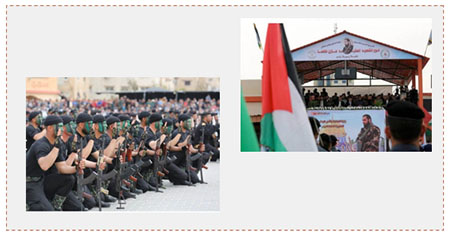 Pictures from the Mazen Fuqahaa graduation exercises (Facebook page of the Hamas-controlled ministry of the interior in the Gaza Strip and the website of the al-Quds newspaper, March 30, 2017).