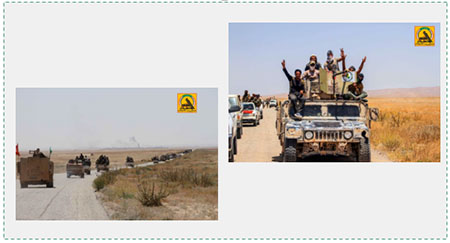b9f97cd8cccb Convoy of Popular Mobilization Committee militias which reached the  Iraq-Syria border at the end