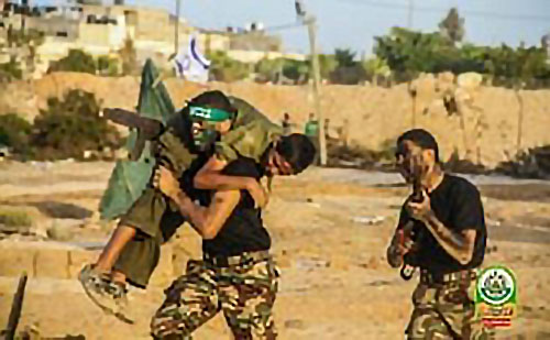 Abducting an IDF soldier.