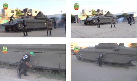 Attacking an IDF Tank and Attaching an Explosive Device to It