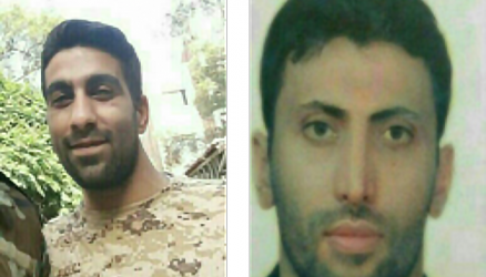 Morteza Hossein-Pour (right) and Mohammad Tajbakhsh (left) who were killed in Syria (Twitter, August 7 2017).
