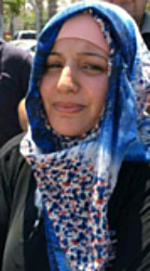 Fadwa Hamada, the Palestinian woman who carried out the stabbing attack (Palinfo Twitter account, August 12, 2017).