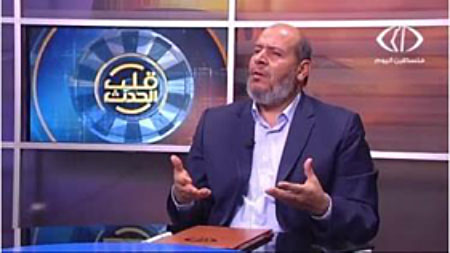Khalil al-Haya during an interview with the Palestinian Islamic Jihad-affiliated Paltoday TV station (Facebook page of Paltoday TV, August 14, 2017).