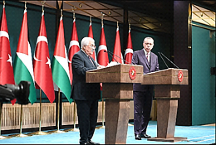 Abu Mazen at the press conference with the Turkish President (Wafa, 28 August 2017)