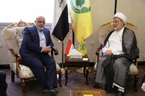 The meeting of Iran's ambassador to Iraq with Humam Hamoudi (Hamoudi's Facebook page, August 16 2017)