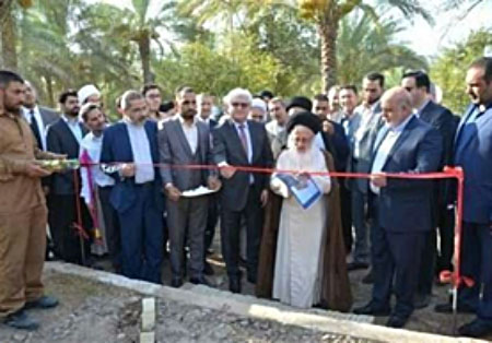 The cornerstone laying ceremony for the first Iranian university in Iraq (IRNA, August 15 2017).
