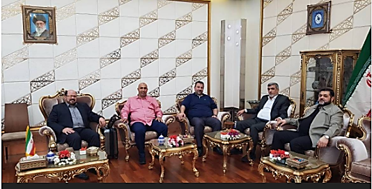 The delegation of senior Hamas figures, led by Izzat al Rishq (second from the right), in Tehran (official Hamas website, August 4, 2017).