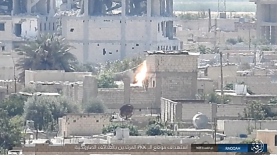 An ISIS rocket hits an SDF outpost (Akhbar Al-Muslimeen, August 4, 2017)