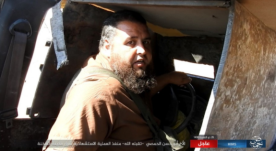 A suicide bomber codenamed Abu Hassan al-Homsi in the car bomb which he detonated against the Syrian troops east of Al-Sukhnah.