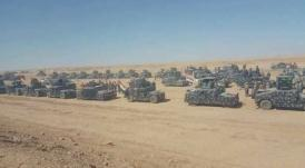 Dozens of bullet-proof vehicles of the Iraqi Federal Police ready, in advance of the campaign to take over Tal Afar (Twitter, August 18, 2017).
