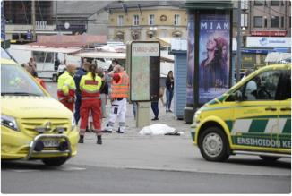 The scene of the attack in the city of Turku (Jack Posobiec's Twitter page, August 18, 2017).