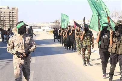 The parade in Khan Yunis (Hamas website, 23 August 2017)