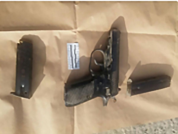 The gun used in the shooting attack (Israel Police Force, September 26, 2017).