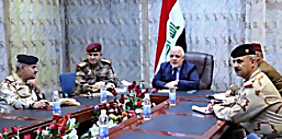 Iraqi Prime Minister Haider al-'Abadi updated by Iraq's security heads about military preparations for attacking al-Hawija (Nineveh Information Center, September 24, 2017).