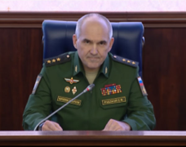 Sergei Rudskoy at the press conference (Russian Ministry of Defense website, October 13, 2017)
