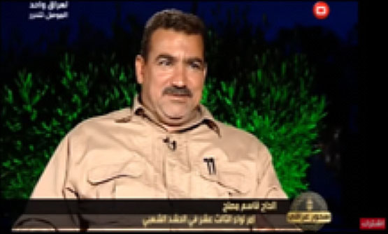Qassem Mosleh, Commander of the Popular Mobilization's 13th Brigade who now serves as commander of the western sector of Al-Anbar Province (Al-Sumaria YouTube account, June 20, 2017)