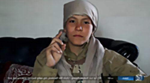 Abu Abd al-Muhaymin the Russian, a 15-year-old ISIS operative (Al-Sawarim, October 23, 2017).