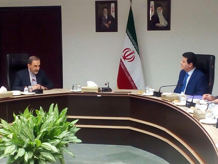 The meeting between Velayati and the Syrian ambassador to Tehran (IRNA, October 10, 2017)