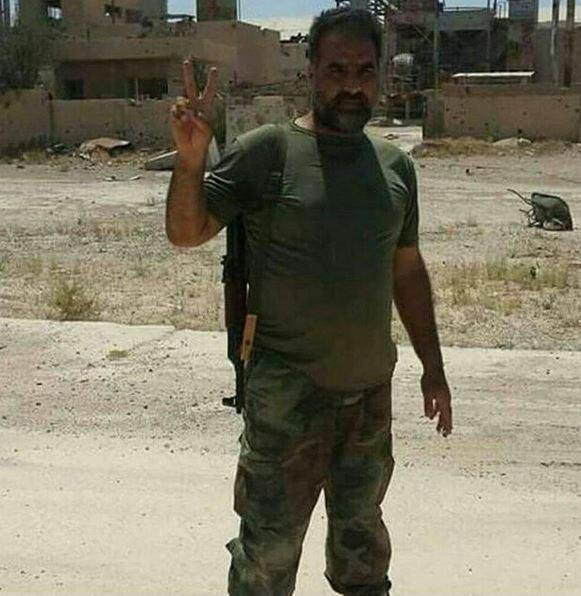 IRGC fighter Ali Khoushlesan who was killed in Iraq (Twitter, October 7, 2017)