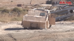 Armored car bomb self-manufactured by ISIS (SANA YouTube account, October 19, 2017)