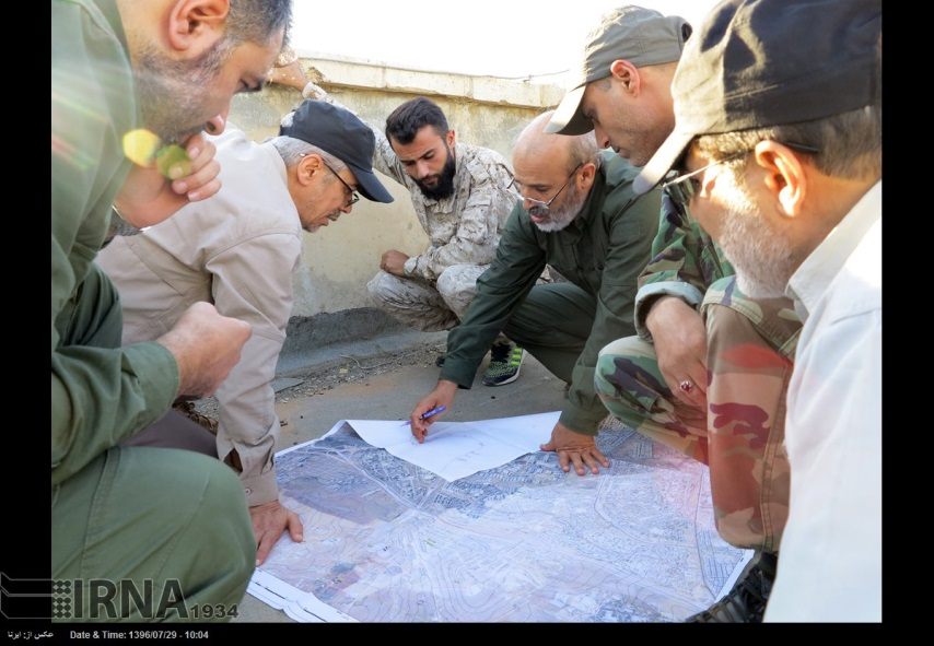 Bagheri at a frontline visit in the area of Aleppo (IRNA, October 20 2017).