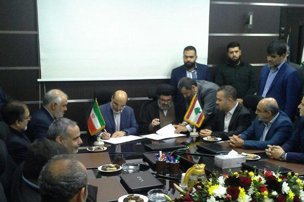 The executive director of the IRIB and a senior Hezbollah official sign the memorandum of understanding (Tehran Times, October 17 2017).