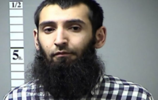 Sayfullo Saipov, the man suspected of carrying out the ramming attack in Manhattan (Twitter, November 1, 2017)