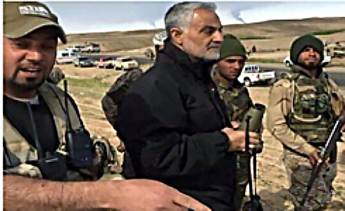 Qasem Soleimani, commander of the IRGC's Qods Force, visits al-Baqir Brigade operatives in Deir al-Zor (Arabi 21, November 5; vedeng, November 6, 2017).