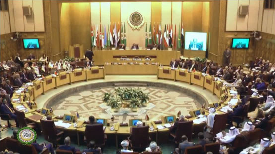 The emergency meeting of the Arab League foreign ministers in Cairo (Arab League YouTube channel, November 20, 2017).
