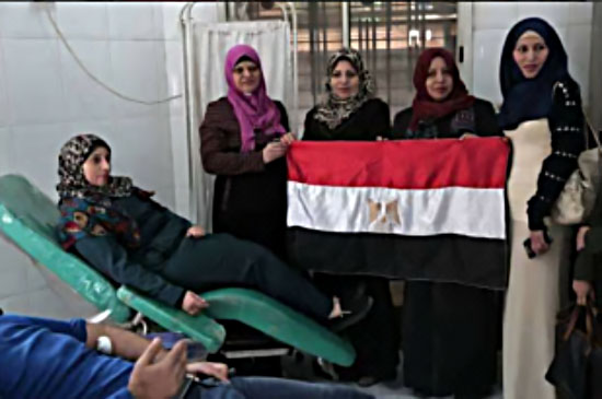 Blood drive in the Gaza Strip for the victims of the attack (Twitter account of QudsN, November 25, 2017).