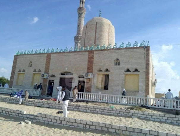 The mosque in the village of Al-Rawdah in northwest Sinai.