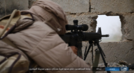 ISIS operative in a sniper position.