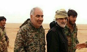 The IRGC officer Kheirollah Samadi who was killed in Albu Kamal alongside Qods Force Commander, Qasem Soleimani (Defa News, November 19 2017).