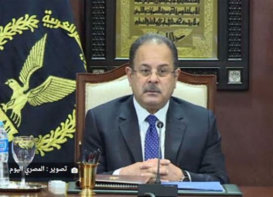 Egyptian Interior Minister General Magdy Abdel Ghaffar at the meeting in which he gave orders to increase the level of security alert to its highest level in advance of Christmas and New Year's