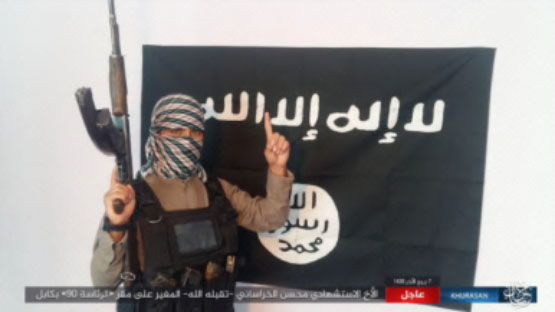 ISIS suicide bomber codenamed Mohsen al-Khorasani, who blew himself up at the headquarters of the Afghan National Directorate of Security (December 25, 2017)
