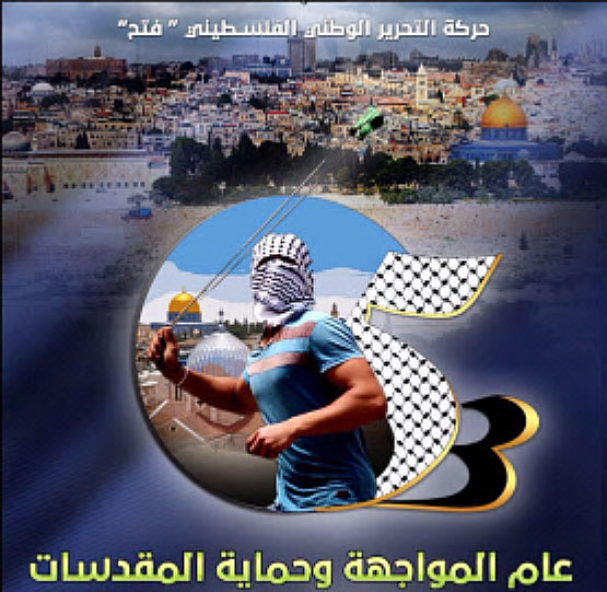 Profile picture of the Fatah Facebook page homepage, updated for the 53rd anniversary of the movement's founding (Facebook page of Fatah, December 30, 2017).
