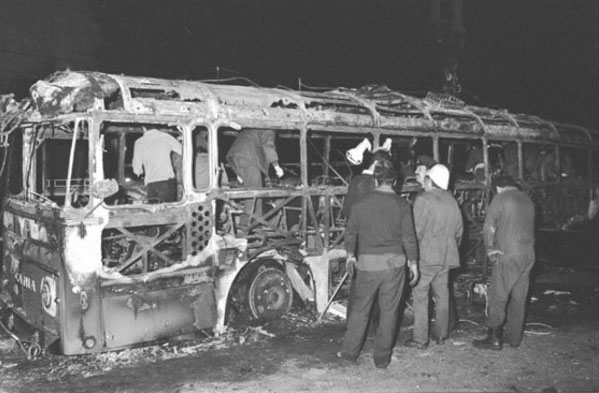 The bus after the attack (IDF Archive, Israeli Ministry of Defense, March 11, 1978).