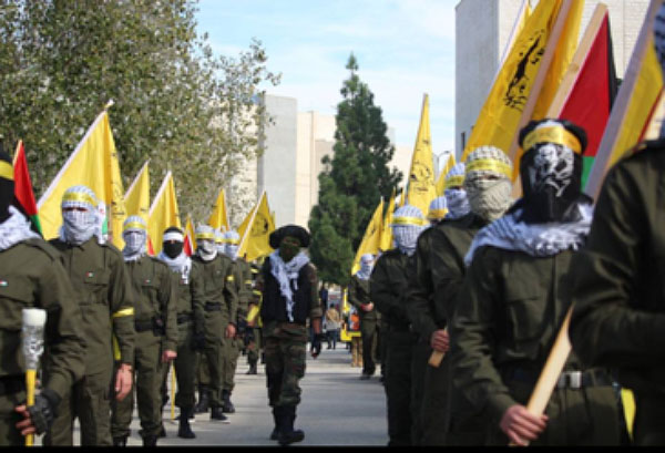 Masked students hold a military display (Facebook page of the Fatah student movement at Bir Zeit University, January 3, 2018).