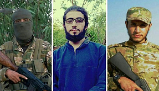 The three operatives of the Khalq organization who were killed in clashes with the Syrian army: Abd al-Raouf al-Kurdi, Jaban al-Kurdi, and Abu Yahya al-Balushi (i.e., the Baluchi) (Butulat Al-Jaysh Al-Suri, January 21, 2018)
