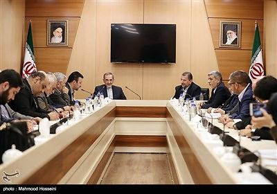 A Hamas delegation meets with Ali-Akbar Velayati, the Foreign Affairs Adviser to the Supreme Leader in Tehran in October 2017 (Tasnim, October 21, 2017)