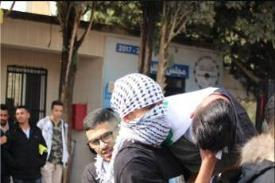 """The """"funeral"""" of one of the demonstrators killed by """"IDF fire"""" (Facebook page of the Fatah student movement at Bir Zeit University, January 3, 2018)."""