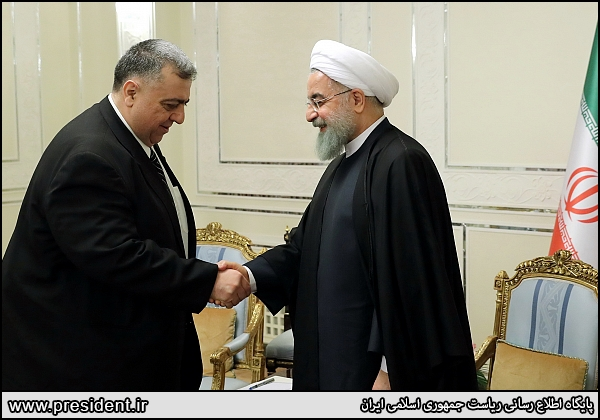 The Sabbagh-Rouhani meeting (the president's website, January 16 2018).