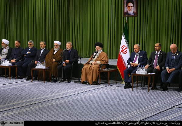 Khamenei's speech in front of Muslim parliamentarians (the website of the Supreme Leader, January 16 2018).